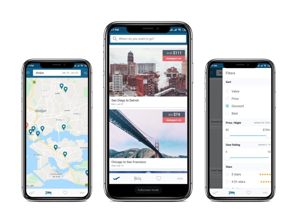 Skiplagged app Interfaces|cheapest flight apps