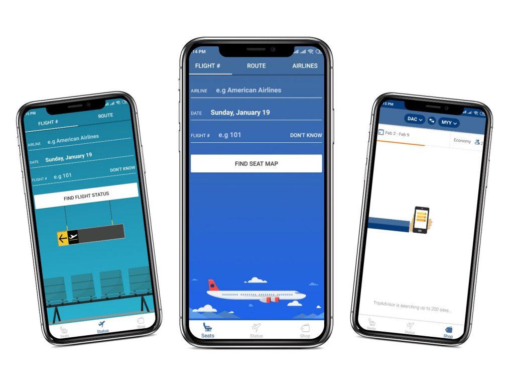 SeatGuru app Interfaces|cheapest flight apps