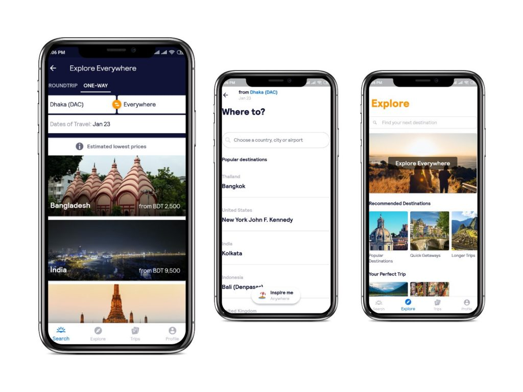 Skyscanner app Interfaces|cheapest flight apps
