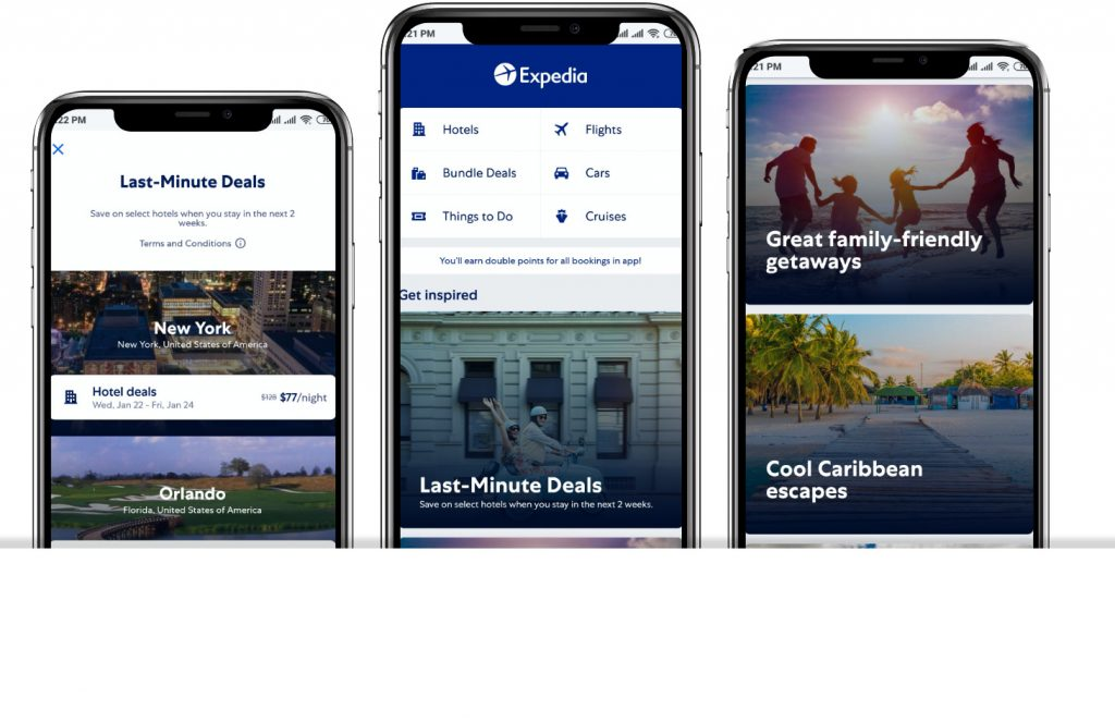 Expedia app Interfaces|cheap flight apps