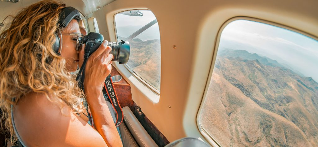 Grand Canyon National Park arial view from helicopter