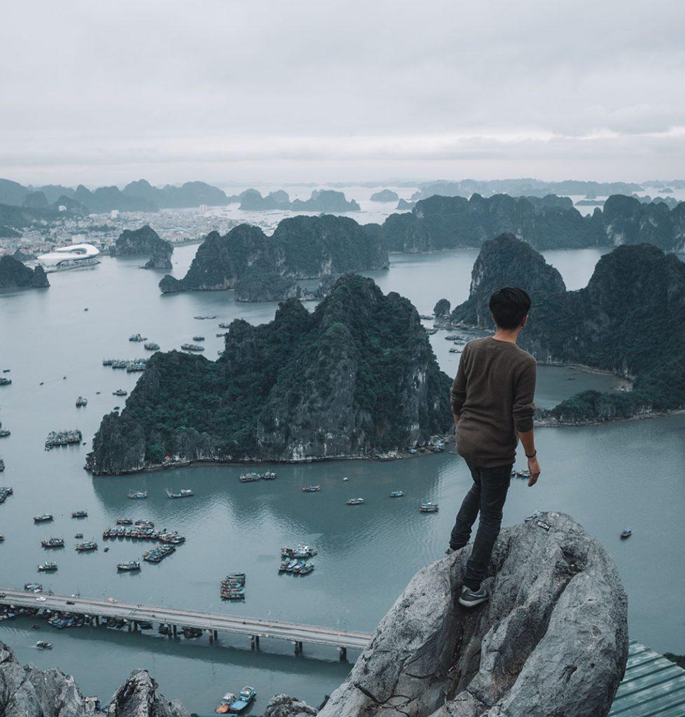 Overlooking Ha Long Bay
